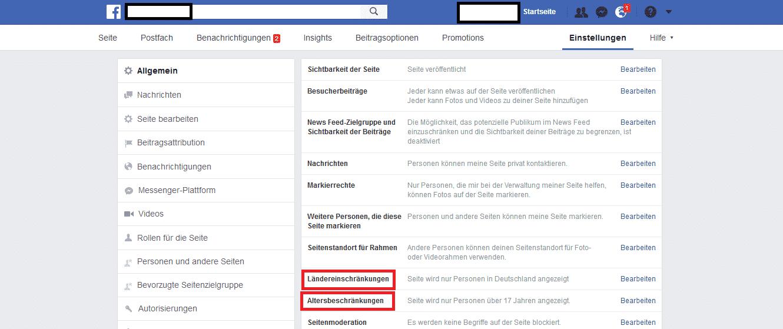 Facebook Einschränkungen herausnehmen